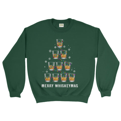 Merry Wiskeymes Christmas Novelty Funny Christmas X Mas Sweatshirt