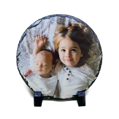 Custom Photo Slate - Round - Ai Printing