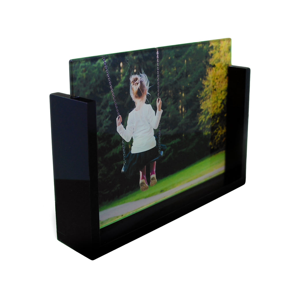 Custom Photo Glass with Black Frame - Landscape - Ai Printing