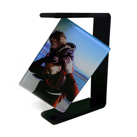 Custom Photo Glass with Black Rotating Frame - Ai Printing