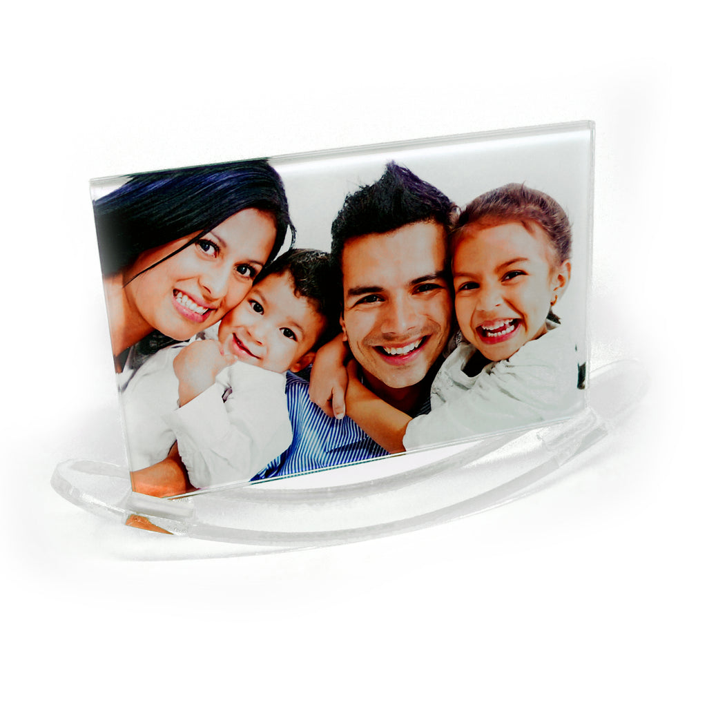 Custom Photo Glass with Rocker Frame Stand - Landscape - Ai Printing
