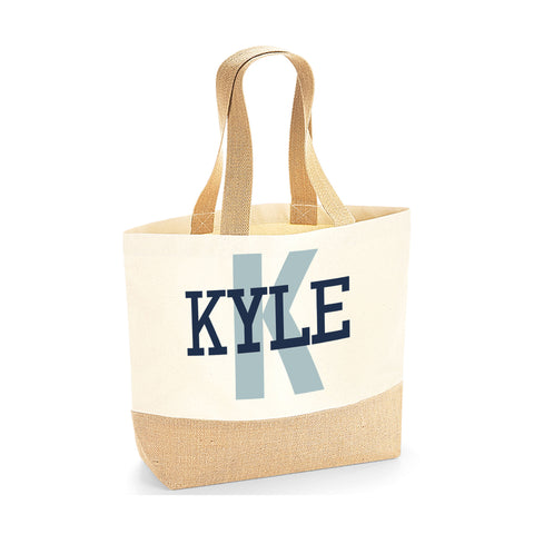 Personalised Name Jute Base Tote Bag | Ai Printing - Ai Printing
