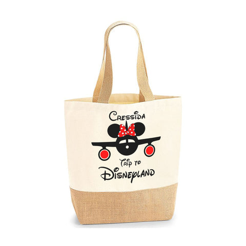 Copy of Personalised Name Bride Jute Base Tote Bag | Ai Printing - Ai Printing