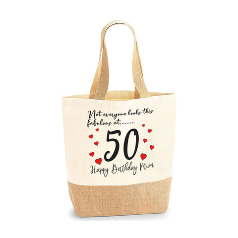 Personalised Birthday Gift for Mom Jute Base Tote Bag | Ai Printing - Ai Printing