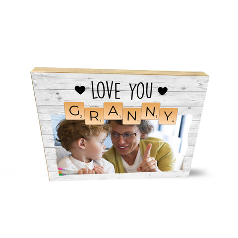 Personalised Photo Collage Wooden Block I Love Granny Cute Mother's Day Gifts- Wooden Block