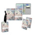Personalised Name Passport Slim Cover Holder Luggage Tag Pastel Fish Scales - Ai Printing