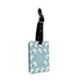 Personalised Name Passport Slim Cover Holder Luggage Tag Blue Unicorn Pattern - Ai Printing