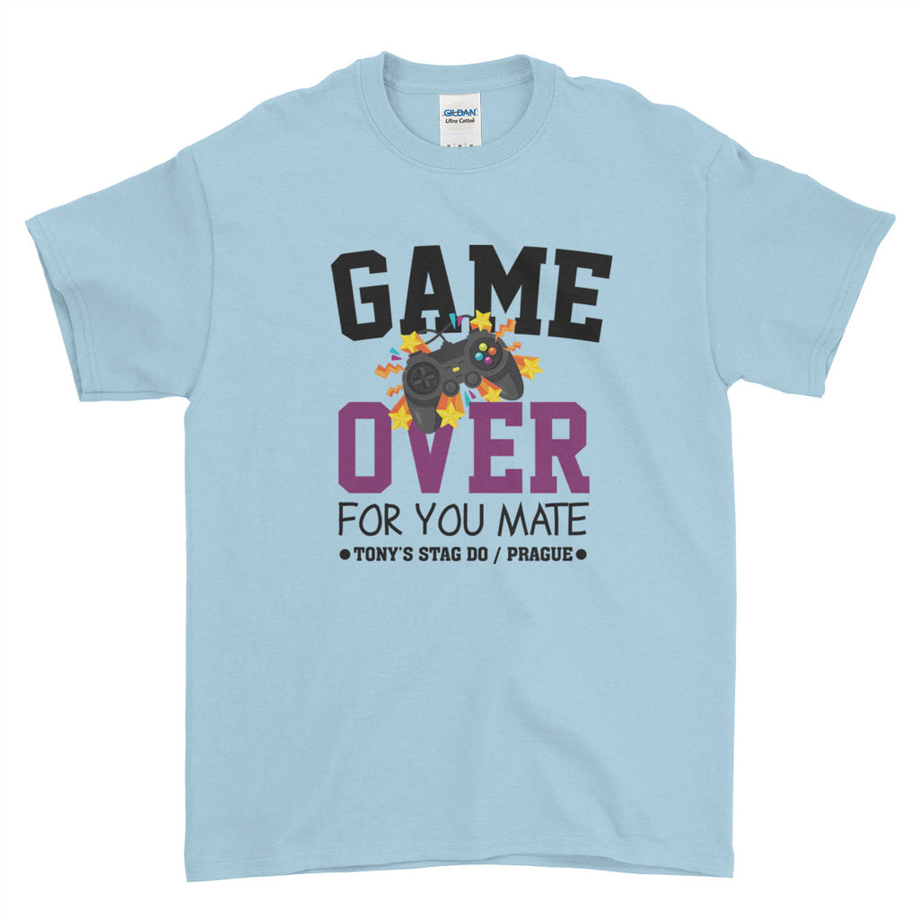 Game Over Stag Do Stag Party Night Stag Weekends - T-Shirt - Mens - Ai Printing
