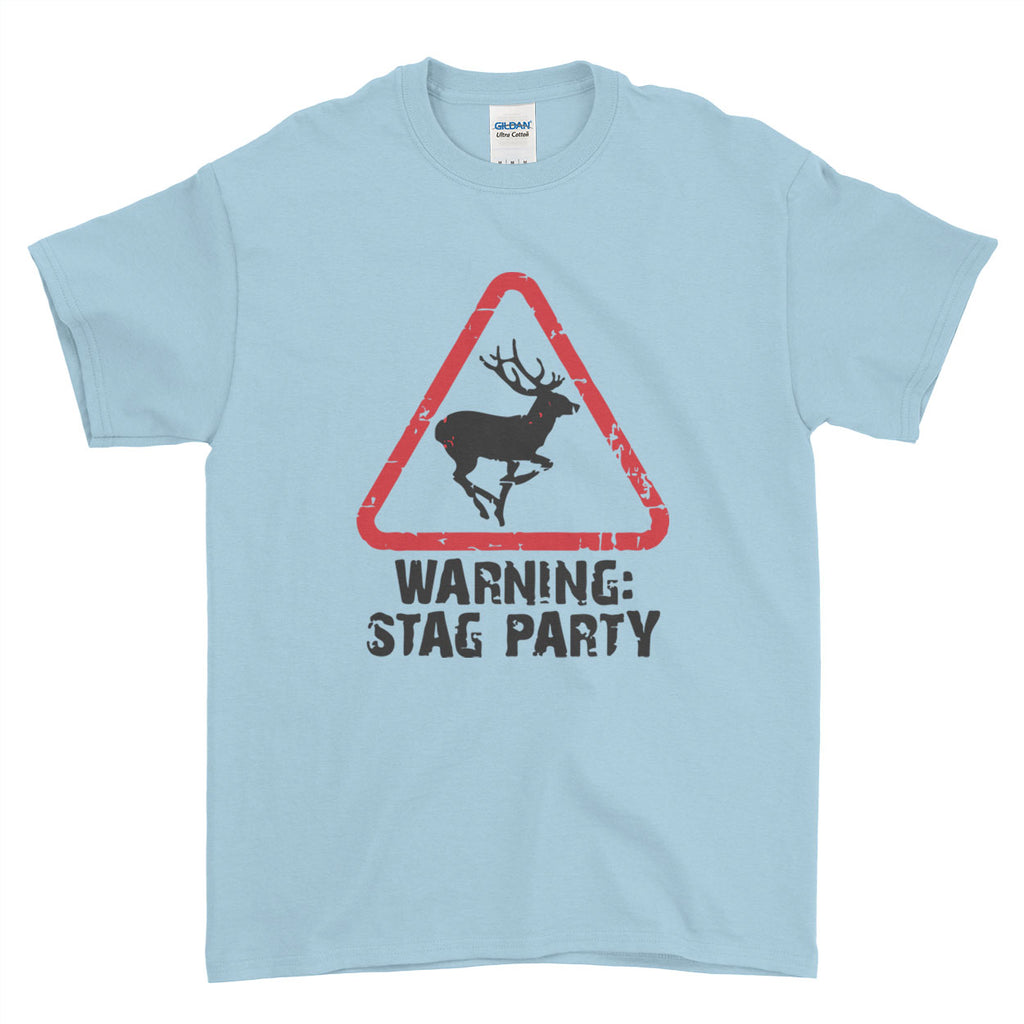 Warning Stag Do Stag Party Night Stag Weekends - T-Shirt - Mens - Ai Printing