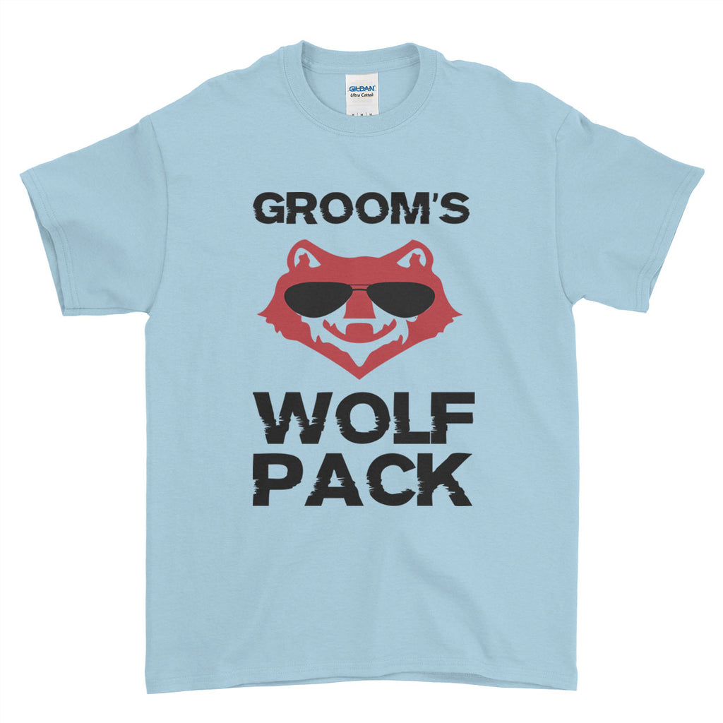 Groom's Wolf Pack Stag Do Stag Party Night Stag Weekends - T-Shirt - Mens - Ai Printing