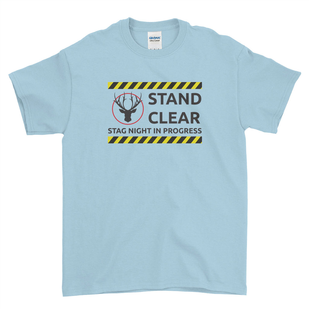 Stand Clear Stag Night in Progress Stag Do Stag Party Night Stag Weekends - T-Shirt - Mens - Ai Printing