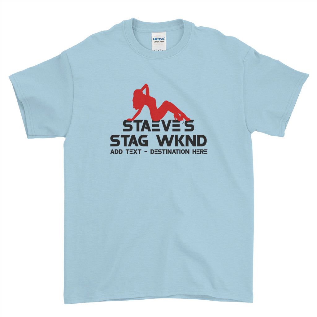 Hot Stag Do Stag Party Night Stag Weekends - T-Shirt - Mens - Ai Printing