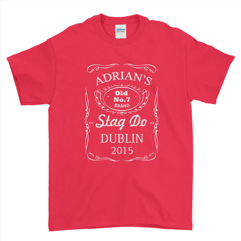 Old No. 7 Brand Stag Do Stag Party Night Stag Weekends - T-Shirt - Mens - Ai Printing