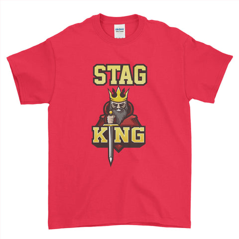 Stag King Stag Do Stag Party Night Stag Weekends - T-Shirt - Mens - Ai Printing