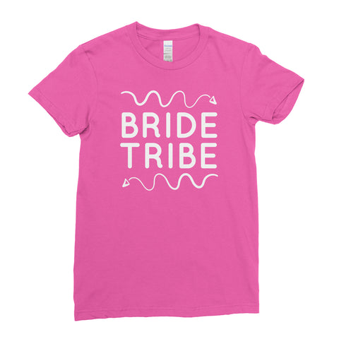 Bride Tribe Hen Do Hen Party - T-Shirt - Womens - Ai Printing