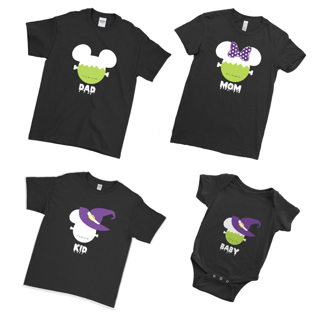 Scary Halloween Funny Christmas Cartoon Face  - Matching Family Couple T Shirt - Ai Printing