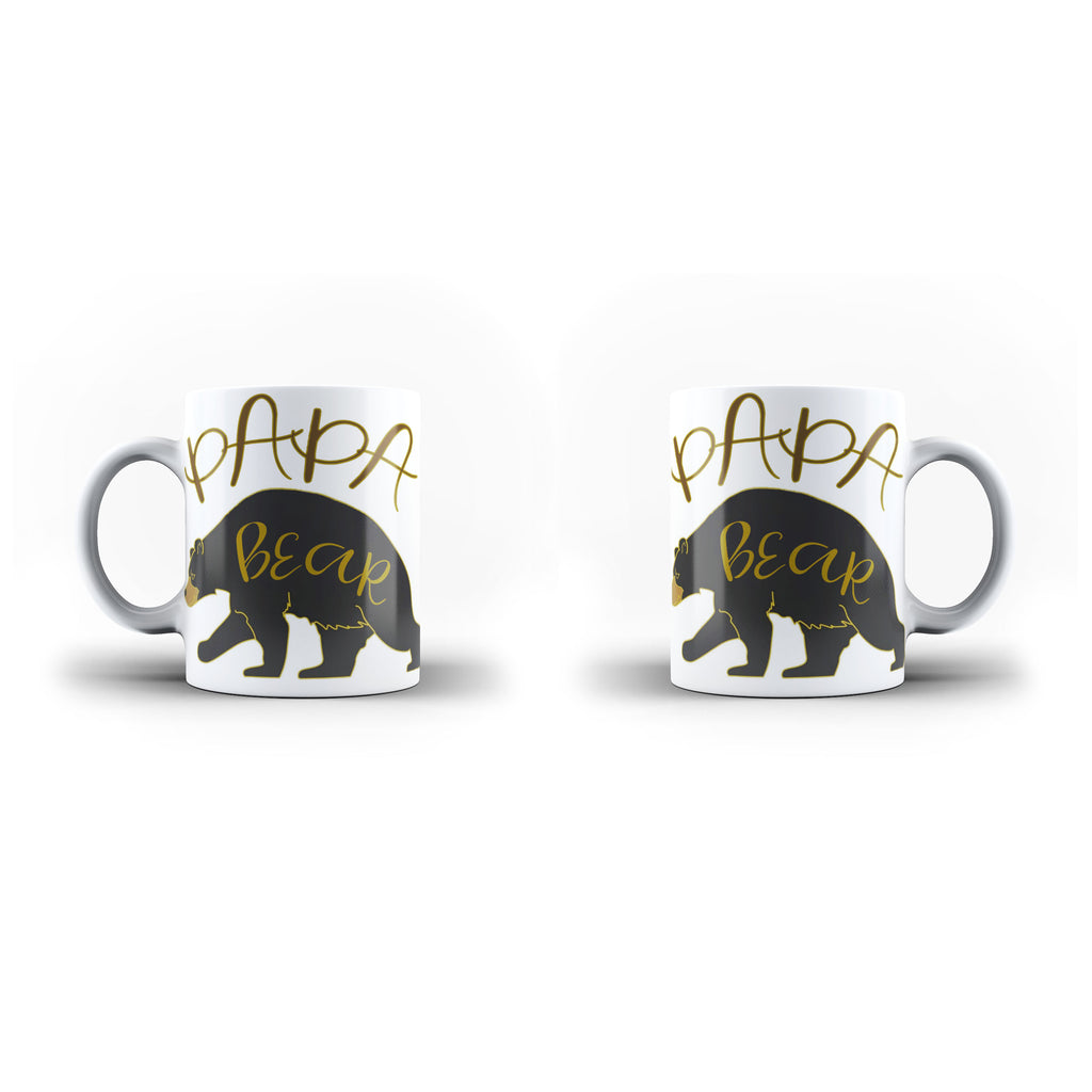 PaPa Bear - Unique Mug - White - Ai Printing