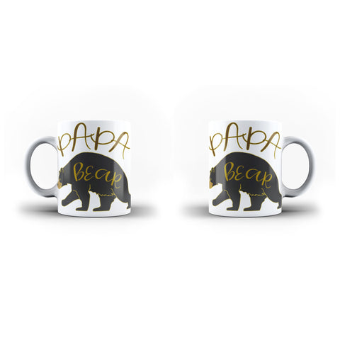 PaPa Bear - Unique Mug - White