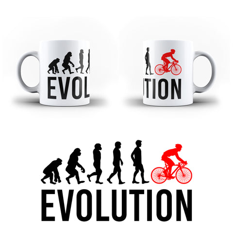 Evolution Of  Cycling Sports - White Magic And Inner Color Mug(mugs near me,mug website)