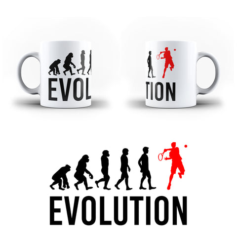 Evolution Of Tennis Sports - White Magic And Inner Color Mug(mugs near me,mug website)