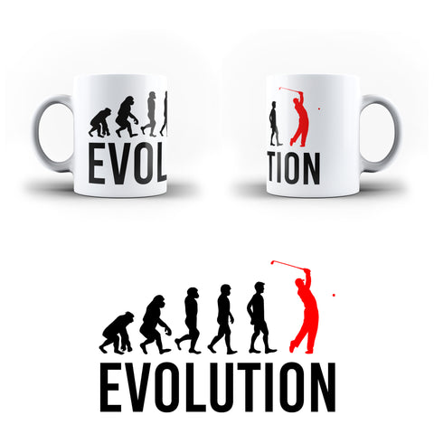 Evolution Of Golf Sports - White Magic And Inner Color Mug(mugs near me,mug website)