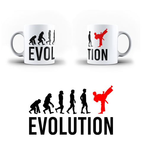 Evolution Of Karate Sports - White Magic And Inner Color Mug(mugs near me,mug website)