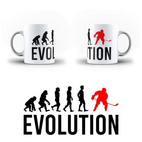 Evolution Of Hockey Sports - White Magic And Inner Color Mug(mugs near me,mug website)