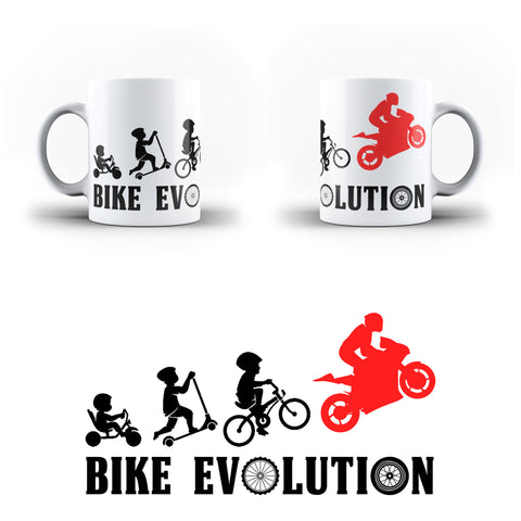 Bike Evolution Biker Motorcycle Lover - White Magic And Inner Color Mug(mugs near me,mug website)