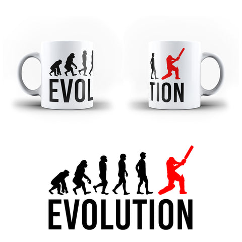 Evolution Of Cricket Sports - White Magic And Inner Color Mug(mugs near me,mug website)