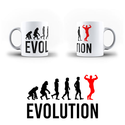 Evolution Of  Bodybuilding Sports - White Magic And Inner Color Mug(mugs near me,mug website)