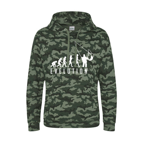 Funny Fishing Evelution of a Fisherman fishing gifts Cool Camouflage Hoodie