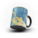 Printed Peacock Blue & Gold - Personalised Mug - Magic - Ai Printing