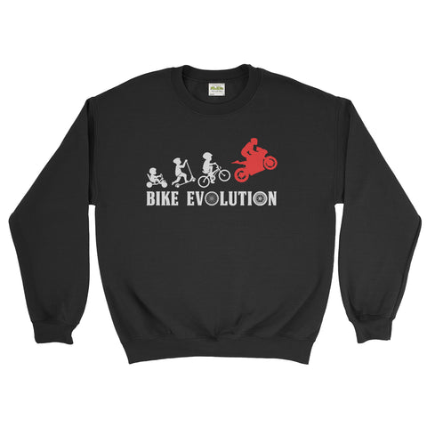 Bike Evolution Biker Motorcycle Lover -  Sweatshirt Unisex(awesome sweatshirts for guys,exclusive sweatshirts,quirky sweatshirts ,sick hoodies brands,unique sweatshirts uk,unique sweatshirts womens,unique for retro sweatshirts,unique sweatshirts,Biker,Rider)