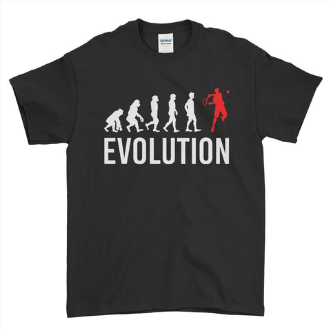 Evolution Of Tennis Sports - Mens T-Shirt(unq clothing,unique t shirts women's,unique shirts for mens,interesting t shirts designs,classy t shirt,t shirt)