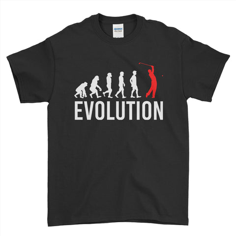 Evolution Of golf Sports - Mens T-Shirt(unq clothing,unique t shirts women's,unique shirts for mens,interesting t shirts designs,classy t shirt,t shirt)