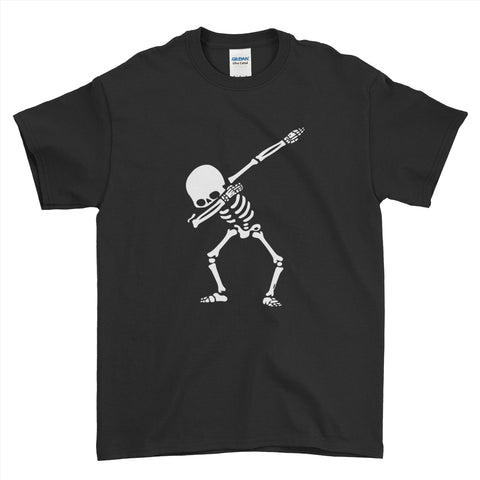 Halloween Scary Spooky Skeleton Dabbing Cute - Mens T-Shirt(halloween shirt ideas,halloween funny,halloween t shirt designs,halloween apparel,scary T- shirts,halloween horror shirts)