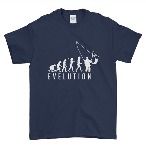 Evolution of a Fisherman Mens T-Shirt