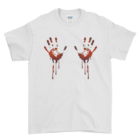 Halloween Scary Bloody Hands Funny - Mens T-ShirtHalloween t-shirt, retro film t-shirt, movie t-shirt, Halloween movie t-shirt, movie poster tee