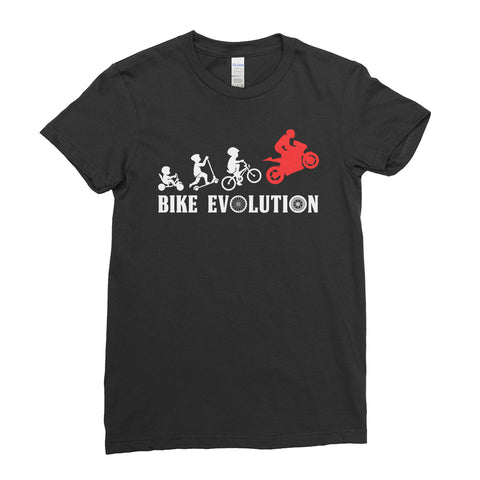 Bike Evolution Biker Motorcycle Lover - Women T-shirt(unq clothing,unique t shirts women's,unique shirts for mens,interesting t shirts designs,classy t shirt,Covid t shirt)