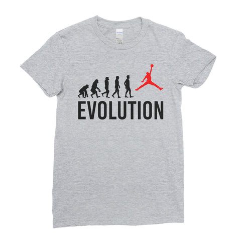 Evolution Of Basketball Sports - Women T-shirt(unq clothing,unique t shirts women's,unique shirts for mens,interesting t shirts designs,classy t shirt,Covid t shirt)