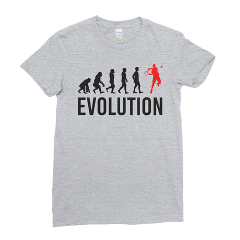 Evolution Of  Tennis Sports - Women T-shirt(unq clothing,unique t shirts women's,unique shirts for mens,interesting t shirts designs,classy t shirt,Covid t shirt)