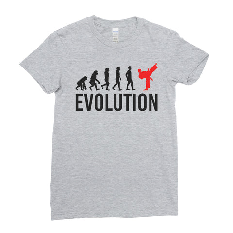 Evolution Of Karate Sports - Women T-shirt(unq clothing,unique t shirts women's,unique shirts for mens,interesting t shirts designs,classy t shirt,Covid t shirt)
