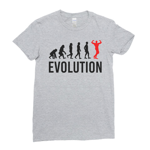 Evolution Of  Bodybuilding Sports - Women T-shirt(unq clothing,unique t shirts women's,unique shirts for mens,interesting t shirts designs,classy t shirt,Covid t shirt)