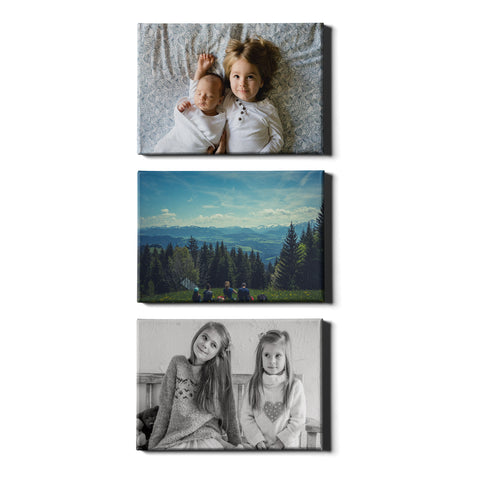 3 Panel Personalised Canvases - Collage Style Landscape - Fixed Size - Ai Printing