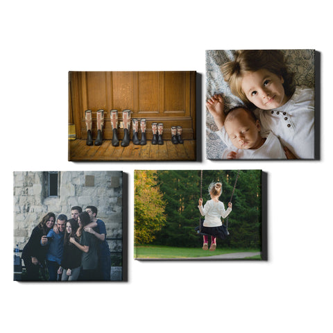 4 Panel Personalised Canvases - Collage Style Square & Landscape - Dynamic Size - Ai Printing