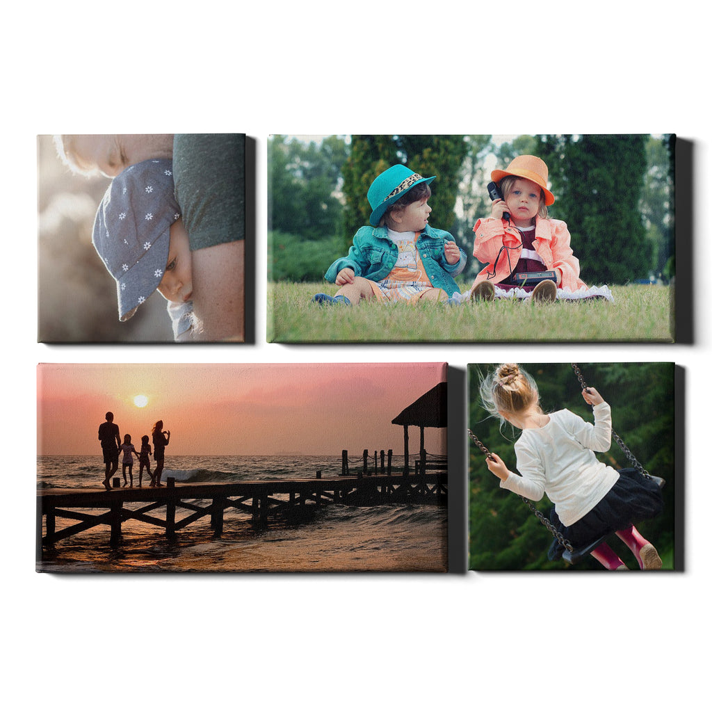 4 Panel Personalised Canvases - Collage Style Square & Landscape - Fixed Size - Ai Printing