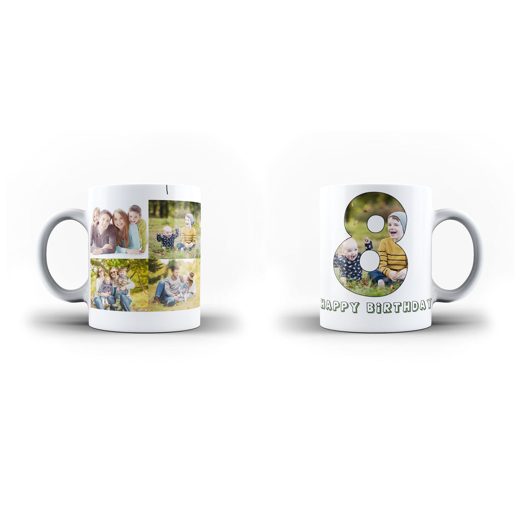 Personalised Photo Mug and Message Birthday Gift- Personalised Mug - White Magic Inner Color - Ai Printing