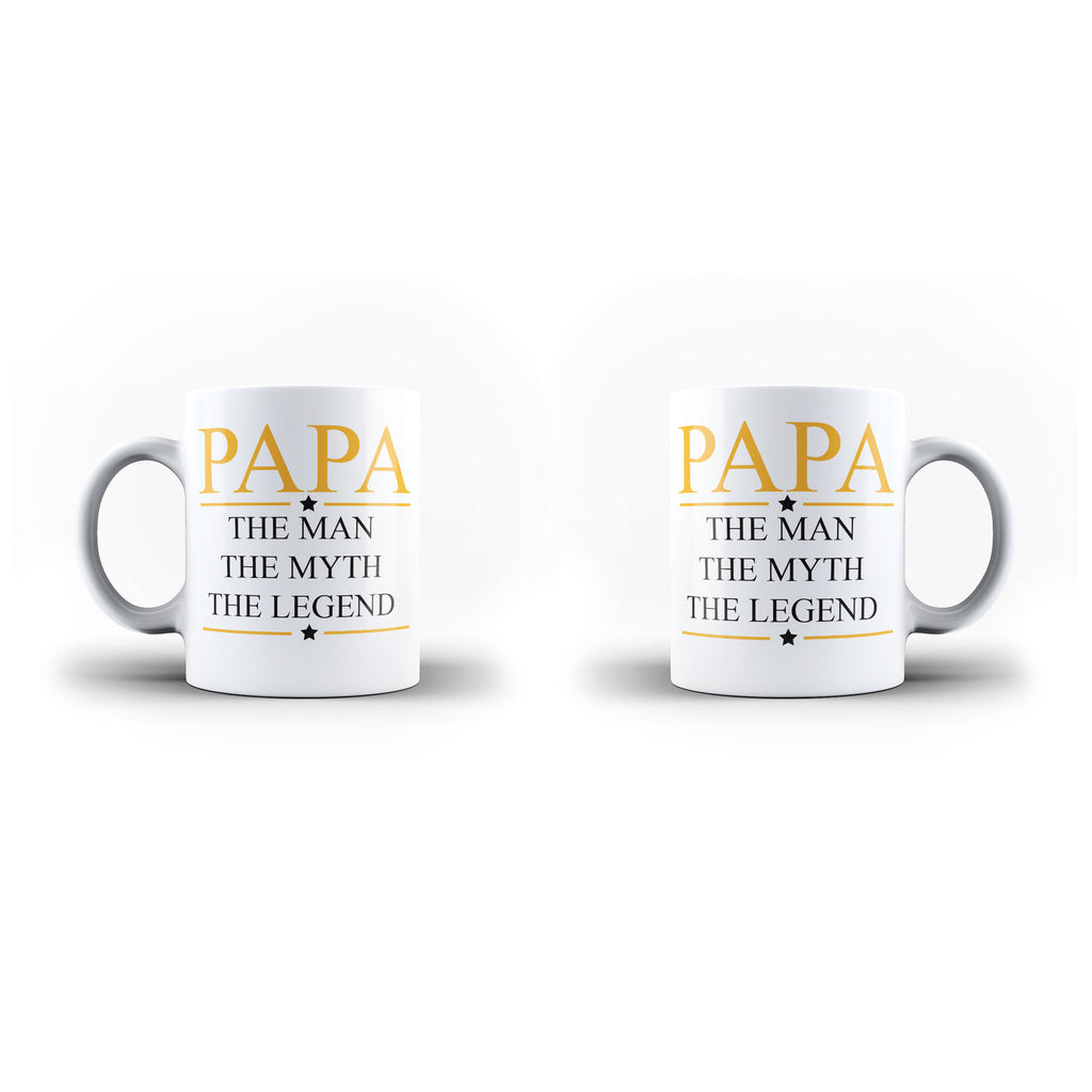 Fathers Day Birthday Papa The Man Myth Legend - Unique Mug - White Set - Ai Printing