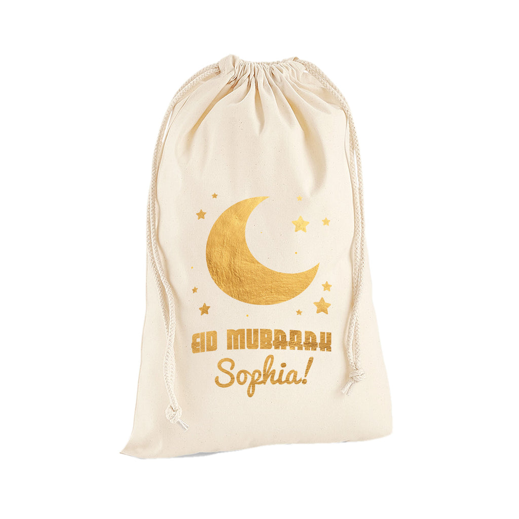 Personalised Name Happy Eid Mubarak Ramadan Arabic Islamic Sack Bag - Sack Bag - Ai Printing