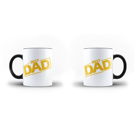 Fathers Day Birthday Best Dad in the Galaxy - Unique Mug - Magic Set - Ai Printing